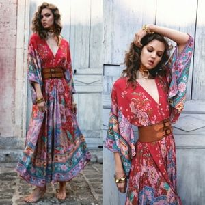 NWOT Spell Designs Lotus Kimono Dress (Ruby Red)